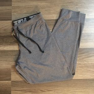 VS PINK gray joggers size large